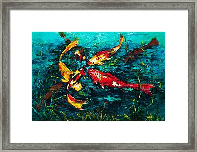 Seven Koi Framed Print by Mary DuCharme