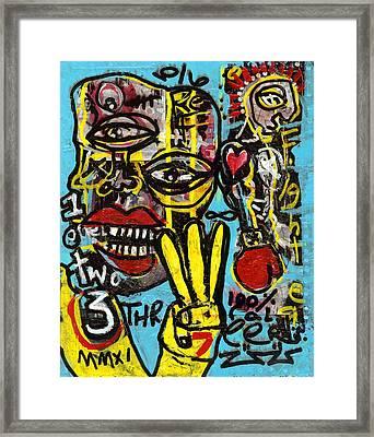Seven Left Framed Print