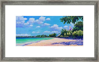 Seven Mile Beach And Ritz Carlton Framed Print by John Clark