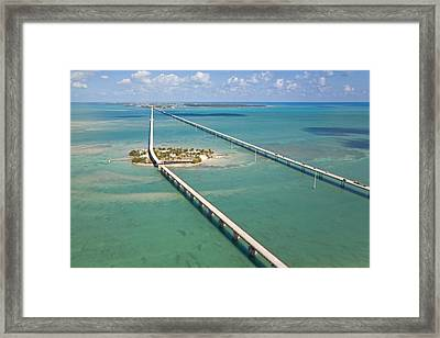 Seven Mile Bridge Crossing Pigeon Key Framed Print by Mike Theiss