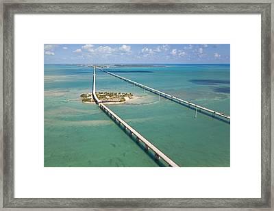 Seven Mile Bridge Crossing Pigeon Key Framed Print