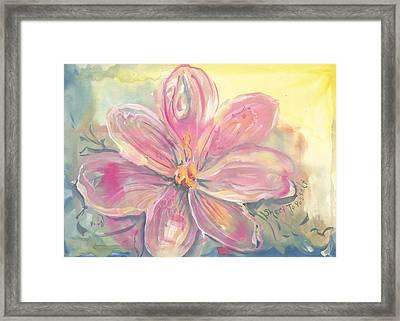 Seven Petals Framed Print