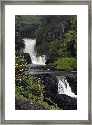 Seven Sacred Pools Framed Print
