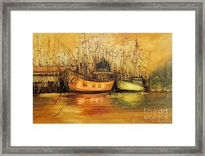 Seven Seas Framed Print by Fatima Stamato