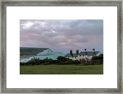 Seven Sisters Dawn  - England Framed Print
