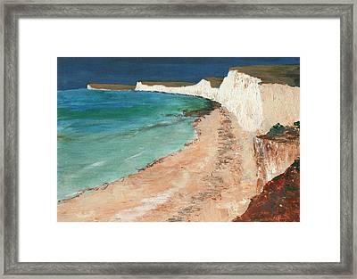 Seven Sisters Sussex Framed Print by Nigel Radcliffe