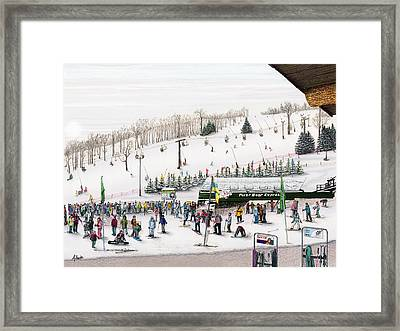 Framed Print featuring the painting Seven Springs Stowe Slope by Albert Puskaric