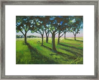 Seven Trees Framed Print by Michele Hollister - for Nancy Asbell