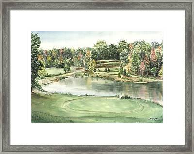 Seventeen Green The Trails Golf Course Framed Print by Lane Owen