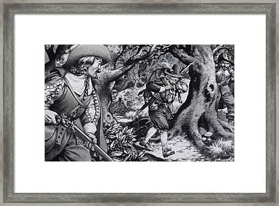 Seventeenth Century Poacher Framed Print