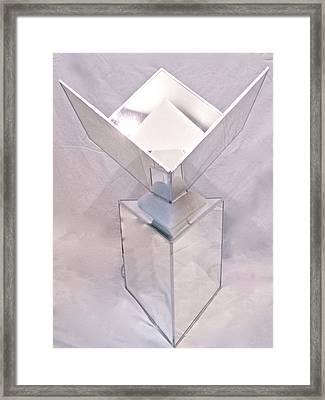 Seventh Chakra Sahasrara Crown Front View Framed Print by Frank Pasquill