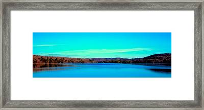 Seventh Lake Panorama Framed Print by David Patterson