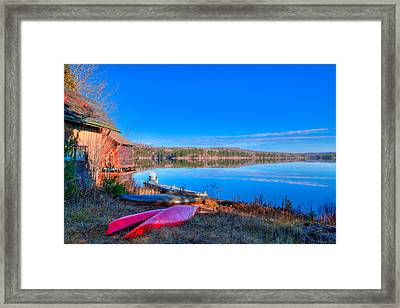 Seventh Lake View Framed Print by David Patterson