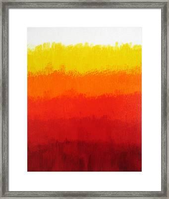 Seventh Framed Print by Oliver Johnston