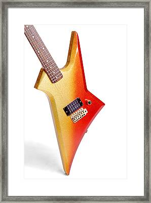Seventies Glam Rock Lead Guitar Framed Print