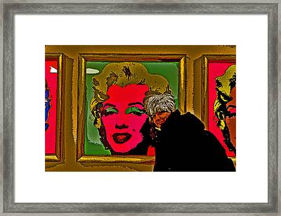 Severe Ordeals. Selfie With Marilyn Monroe. Framed Print by Andy Za