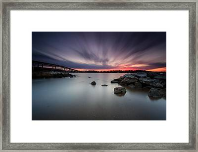 Framed Print featuring the photograph Severn River Dusk by Jennifer Casey