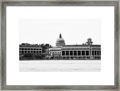 Severn River View Of United States Naval Academy Framed Print by Brendan Reals