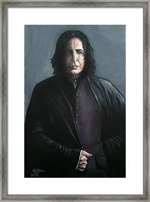 Severus Snape Framed Print by Tom Carlton