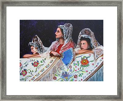 Sevilla's Ladies Framed Print