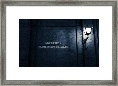 Seville At Night - Plaza De Las Mercedarias Framed Print by Andrea Mazzocchetti