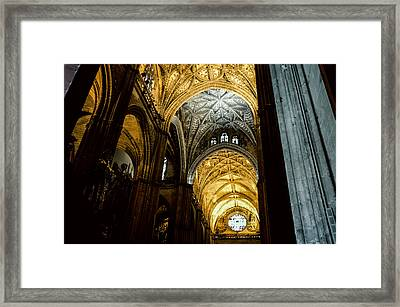 Seville - Of A Might Divine - The Cathedral  Framed Print