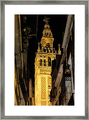 Seville - The Giralda At Night  Framed Print