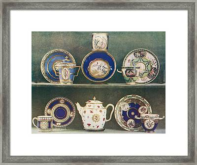 Sevres Porcelain Decorated With Emblems Framed Print