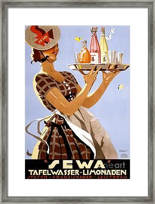 Sewa German Vintage Poster Restored Framed Print by Carsten Reisinger