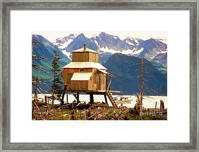 Seward Alaska House Of Stilts Framed Print
