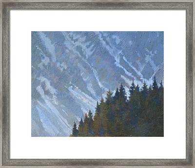 Seward Mountain Framed Print by Robert Bissett