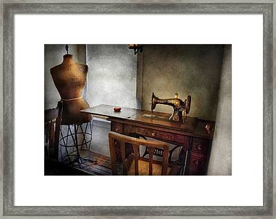 Sewing - A Tailors Life  Framed Print by Mike Savad