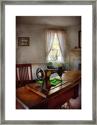 Sewing - My Sewing Room  Framed Print by Mike Savad