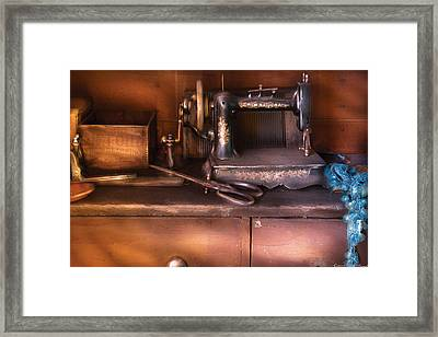 Sewing - New National Sewing Machine  Framed Print by Mike Savad