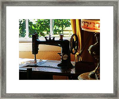Sewing Machine And Lamp Framed Print by Susan Savad