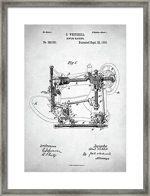 Sewing Machine Patent Framed Print