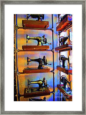 Sewing Machine Retirement Framed Print by Jost Houk