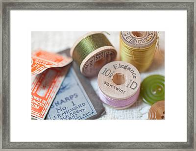 Sewing Notions Framed Print