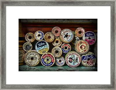 Sewing Spools Remember Them Framed Print by Paul Ward