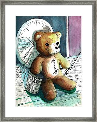 Sewn Up Teddy Bear Framed Print