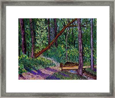 Sewp Trail Bridge Framed Print by Stan Hamilton