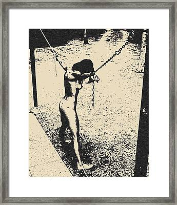 Sex And Submission - Punishment Framed Print by Casemiro