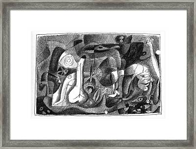 Sex Life Framed Print by Vladimir Kozma