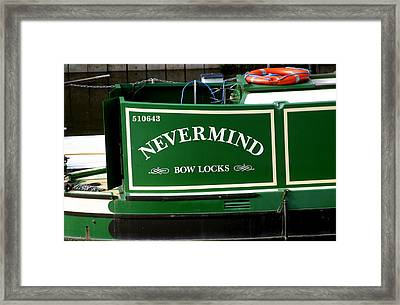 Sex Pistols Narrow Boat Framed Print by Jez C Self
