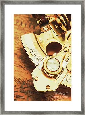 Sextant Sailing Navigation Tool Framed Print by Jorgo Photography - Wall Art Gallery