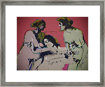Sexual Anxiety Framed Print by Noredin MorgaN