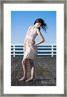 Sexy Fashion Model Framed Print by Jorgo Photography - Wall Art Gallery