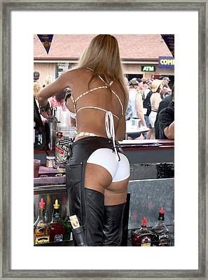 Sexy Female Bartender  Framed Print