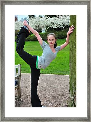 Sexy Female Dancer. Framed Print