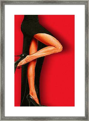 Sexy Pins Also Known As Legs 1 Framed Print